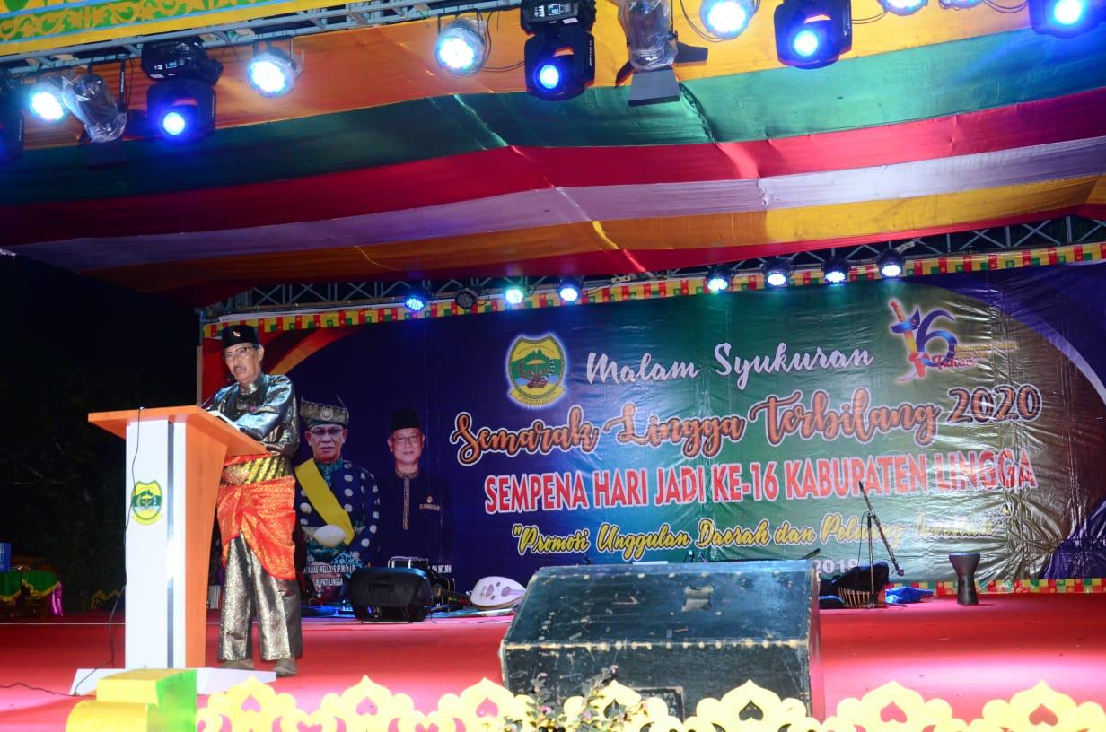 Pemkab Lingga Gelar Malam Syukuran Hari Jadi Kabupaten Lingga